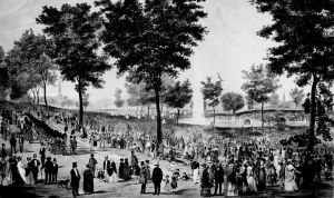 View of the Water Celebration, on Boston Common, October 25th 1848