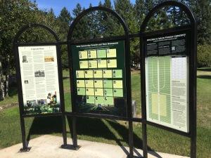 Salem Pioneer Cemetery Interpretive Panel