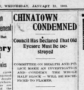 Chinatown Condemned