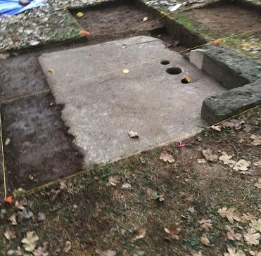 Shrine after excavation